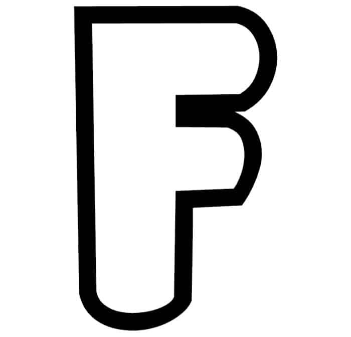 Free Printable Bubble Letter Stencils: Bubble Letter F Stencil