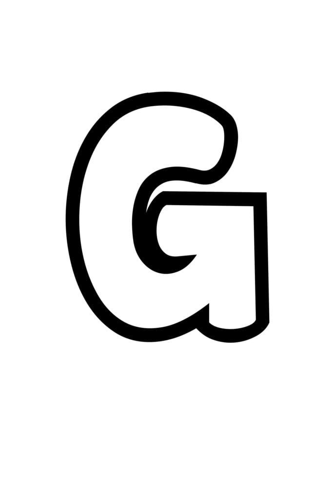 free printable bubble letter stencils bubble letter G stencil