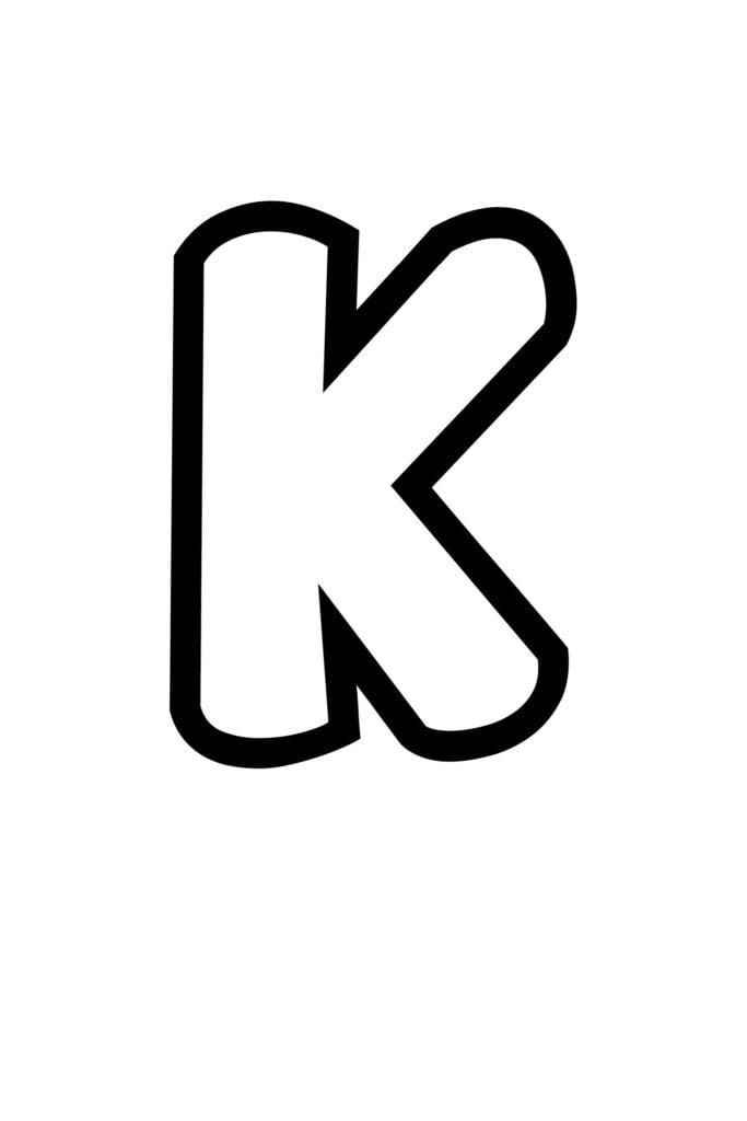 free printable bubble letter stencils bubble letter K stencil