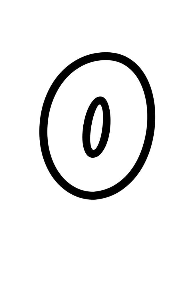 free printable bubble letter stencils bubble letter O stencil