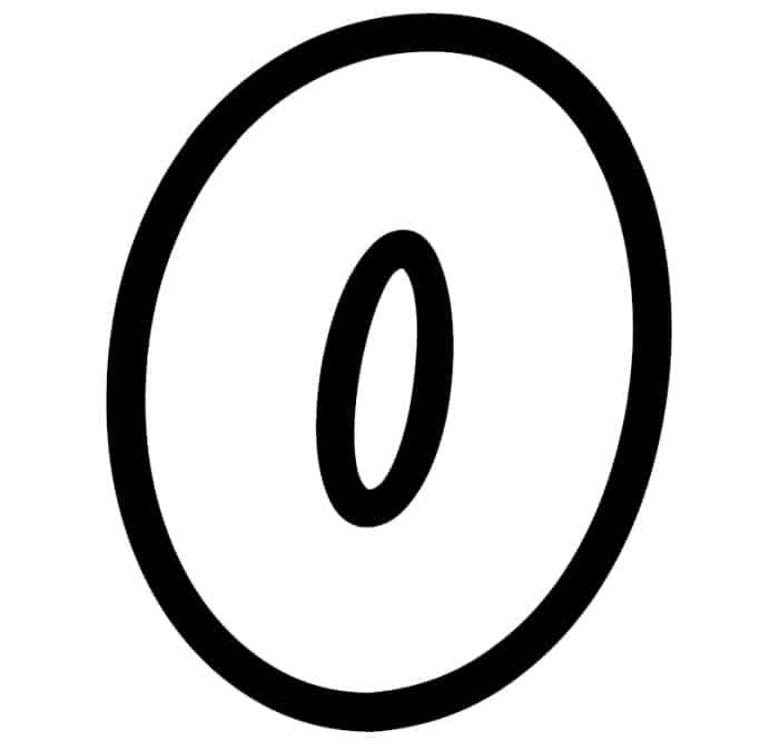 Free Printable Bubble Letter Stencils: Bubble Letter O Stencil