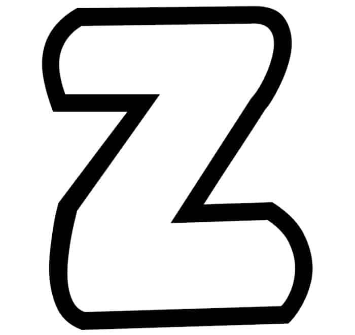 Free Printable Bubble Letter Stencils: Bubble Letter Z Stencil