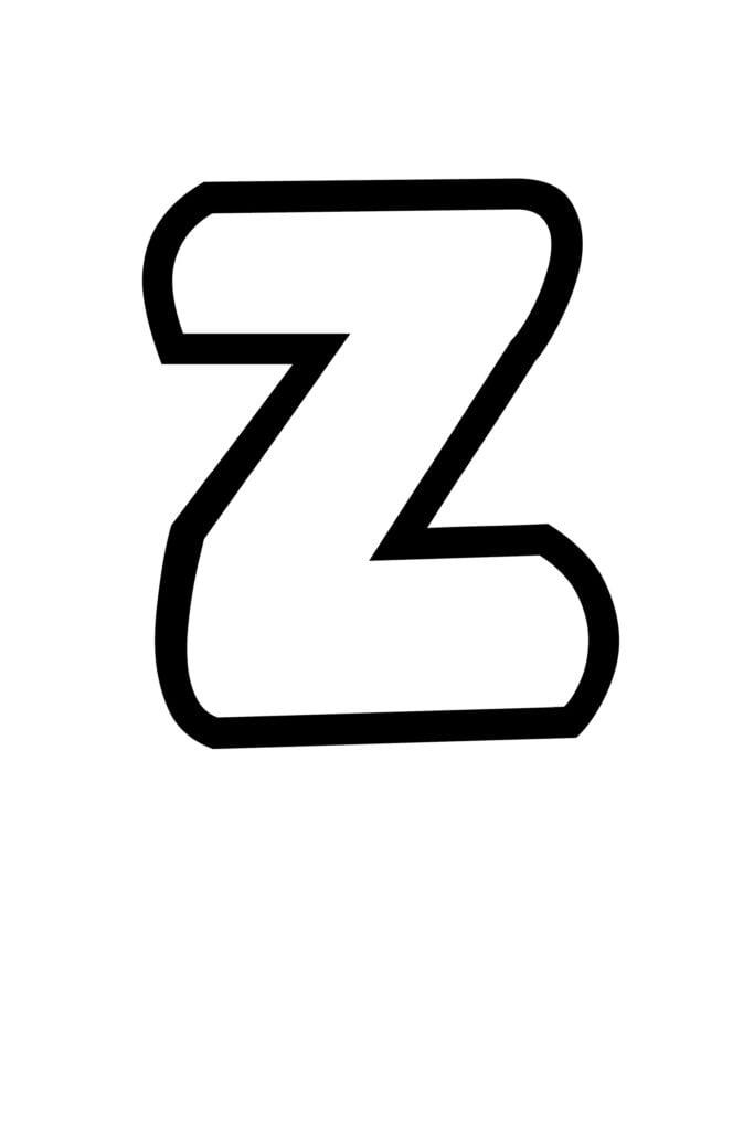free printable bubble letter stencils bubble letter Z stencil