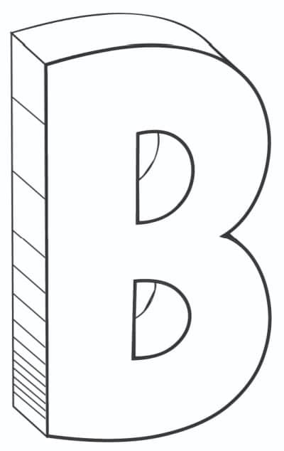 Free Printable Cool Bubble Letters: Bubble Letter B