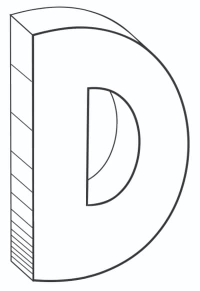 Free Printable Cool Bubble Letters: Bubble Letter D
