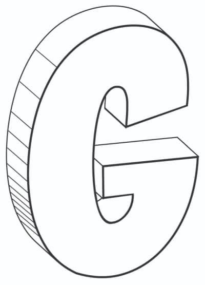 Free Printable Cool Bubble Letters: Bubble Letter G