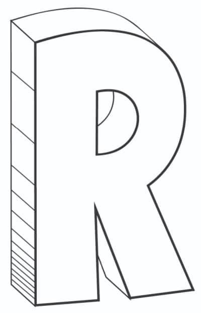 Free Printable Cool Bubble Letters: Bubble Letter R