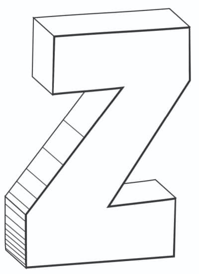 Free Printable Cool Bubble Letters: Bubble Letter Z