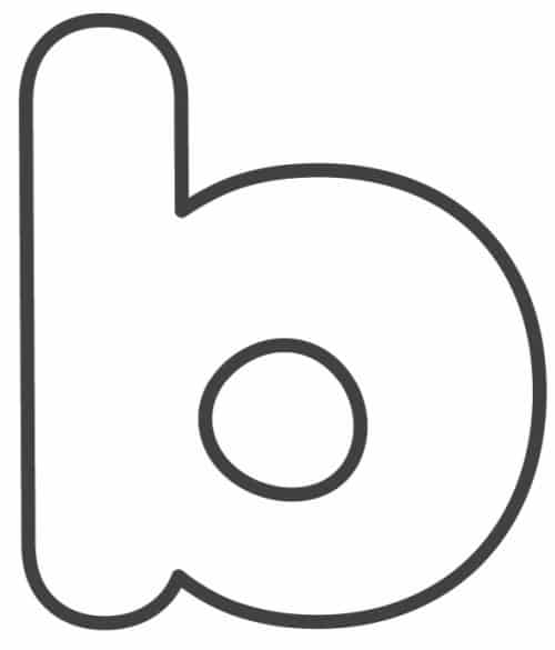 Free Printable Lowercase Bubble Letters: Lowercase B Bubble Letter