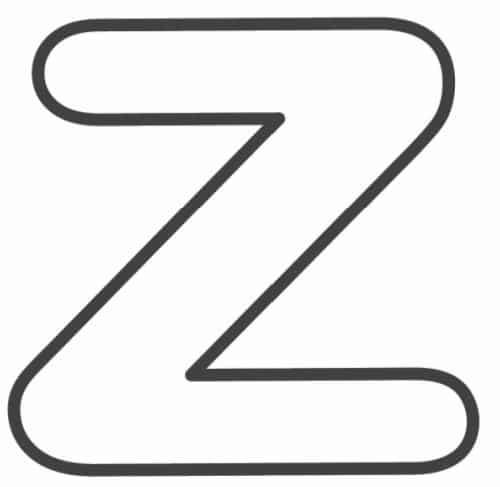 Free Printable Lowercase Bubble Letters: Lowercase Z Bubble Letter