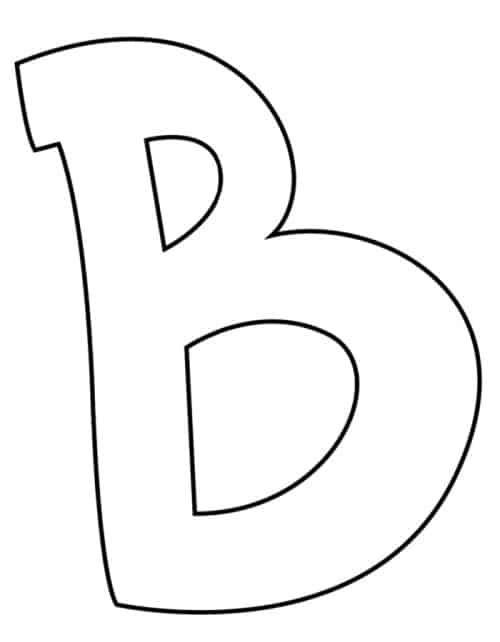 Graffiti Bubble Letter B Printable