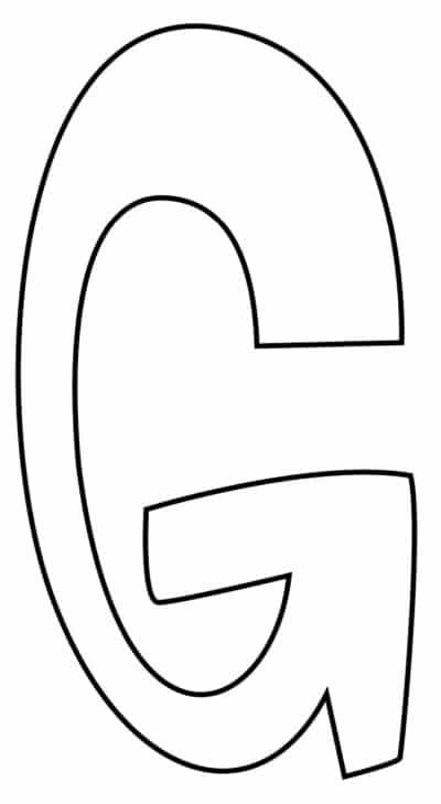 Graffiti Bubble Letter G Printable