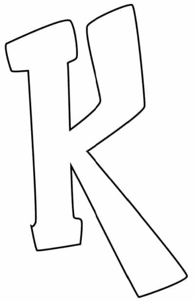 Graffiti Bubble Letter K Printable