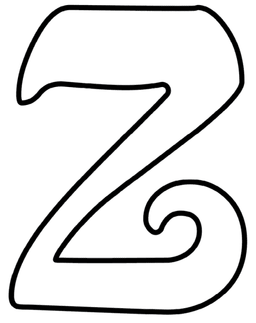 Printable Cursive Bubble Letter Z