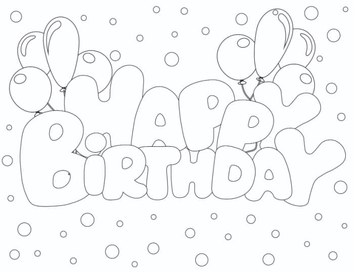 Bubble letters that say happy birthday, like these balloon bubble letters, are great for creating heartfelt cards and decor.