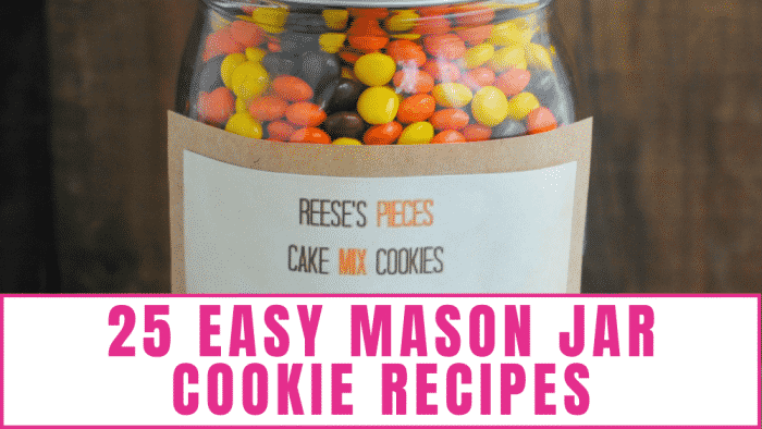 If you need heartfelt but frugal gifts this holiday season look no further than these 25 easy Mason jar cookie recipes