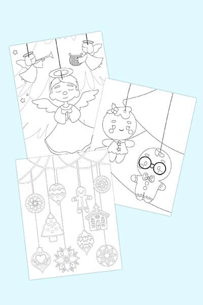 free Christmas ornament coloring pages printable downloads