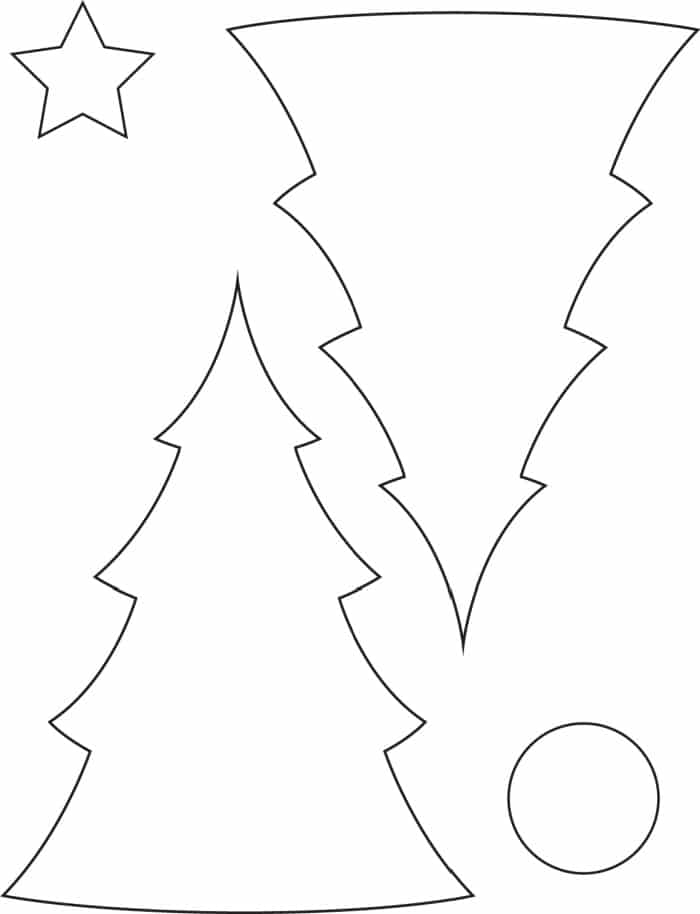 This 3D Christmas tree template printable is perfect for adorning your mantle or serving as a table centerpiece.