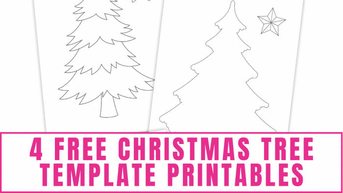 free Christmas tree template printables
