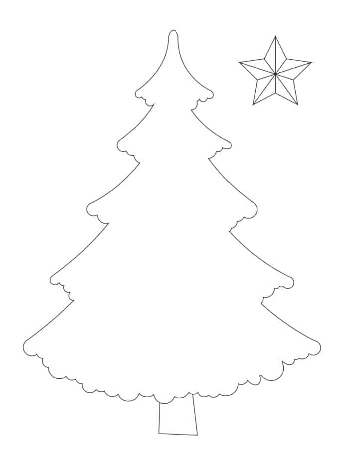 If you believe bigger is better, opt for this full page printable Christmas tree template