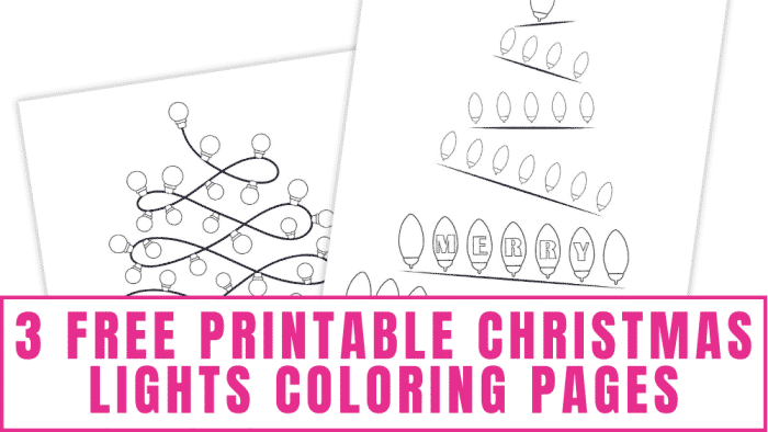 free printable Christmas lights coloring pages