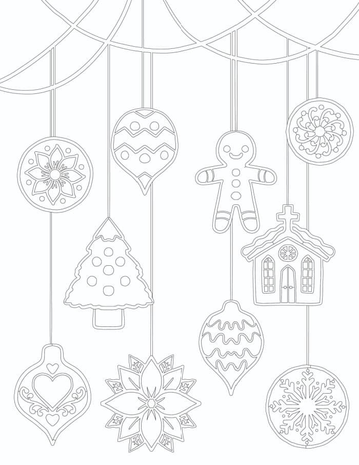 3 Free Christmas Ornament Coloring Pages - Freebie Finding Mom