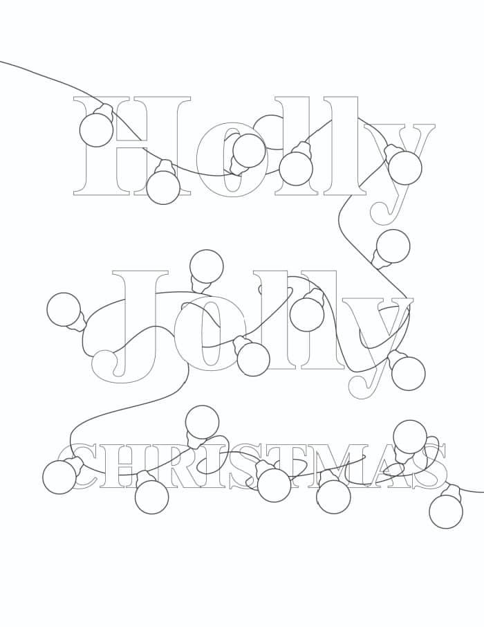 free printable coloring page Christmas light bulbs