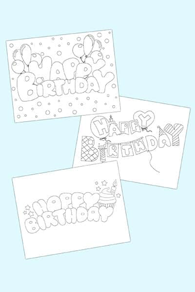 free printable happy birthday bubble letters 3 styles