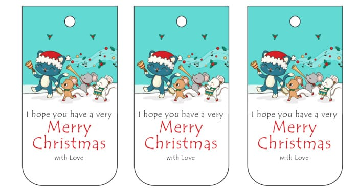 The whimsical animals on these printable Christmas labels are sure to make anyone smile!