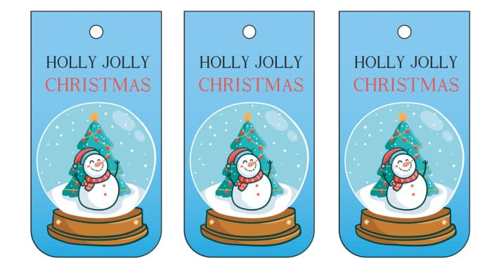 Okay, this Christmas gift tags printable featuring a snow globe can't guarantee a holly jolly Christmas, but it can't hurt!