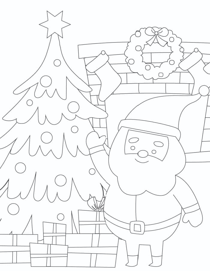 3 Printable Santa Coloring Pages Free Freebie Finding Mom