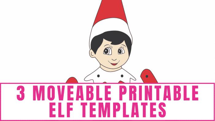 Moveable Printable Elf Templates
