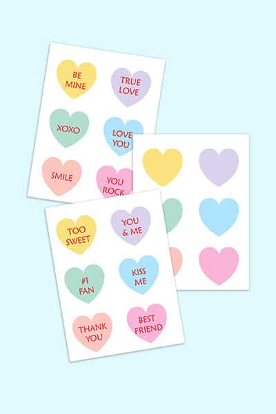 18 free printable conversation hearts