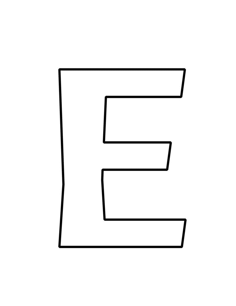 Bubble Letter E