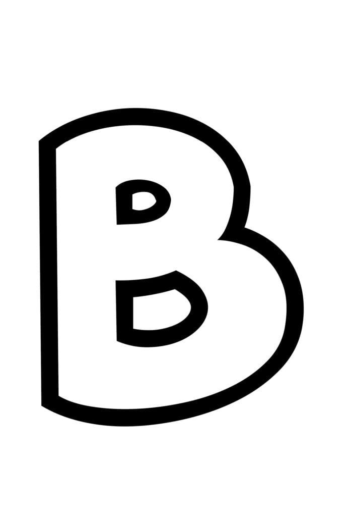 Free Printable Bubble Letter Stencils Bubble Letter B