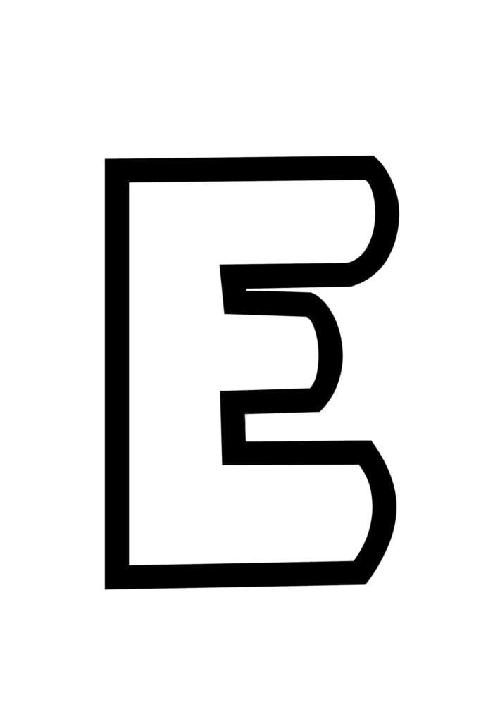 Free Printable Bubble Letter Stencils Bubble Letter E