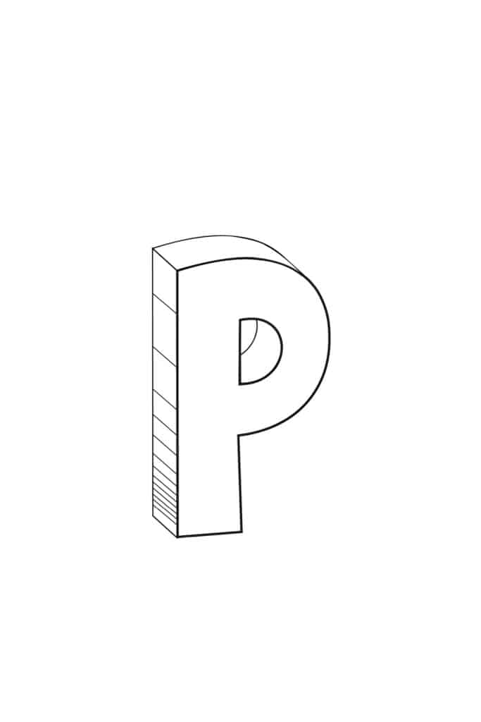 Free Printable Cool Bubble Letters: Bubble Letter P