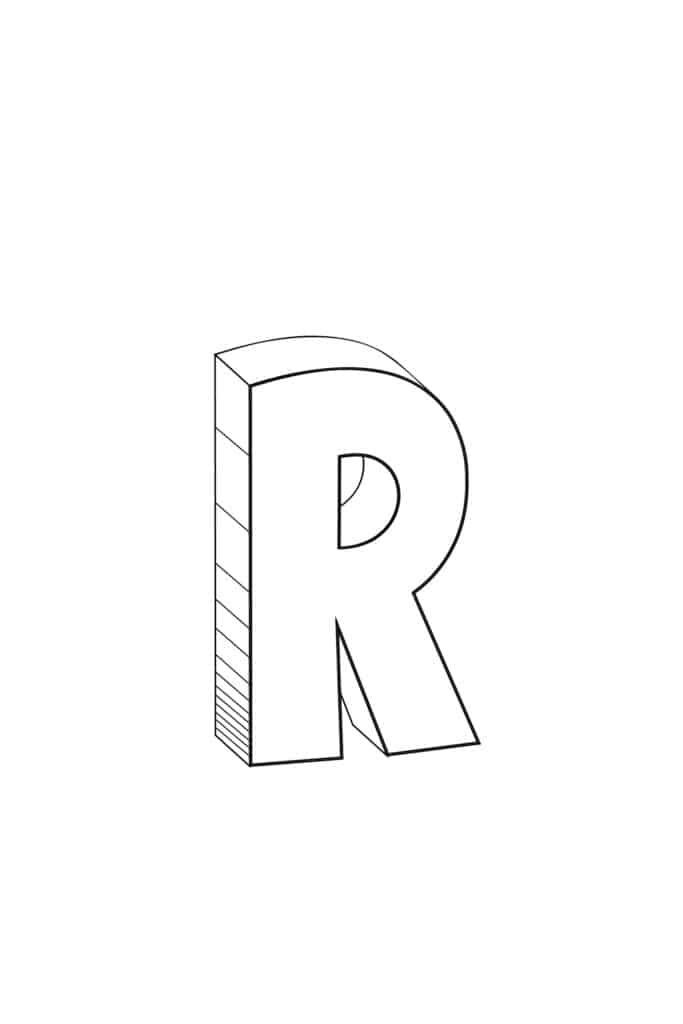 Free Printable Cool Bubble Letters: Bubble Letter R