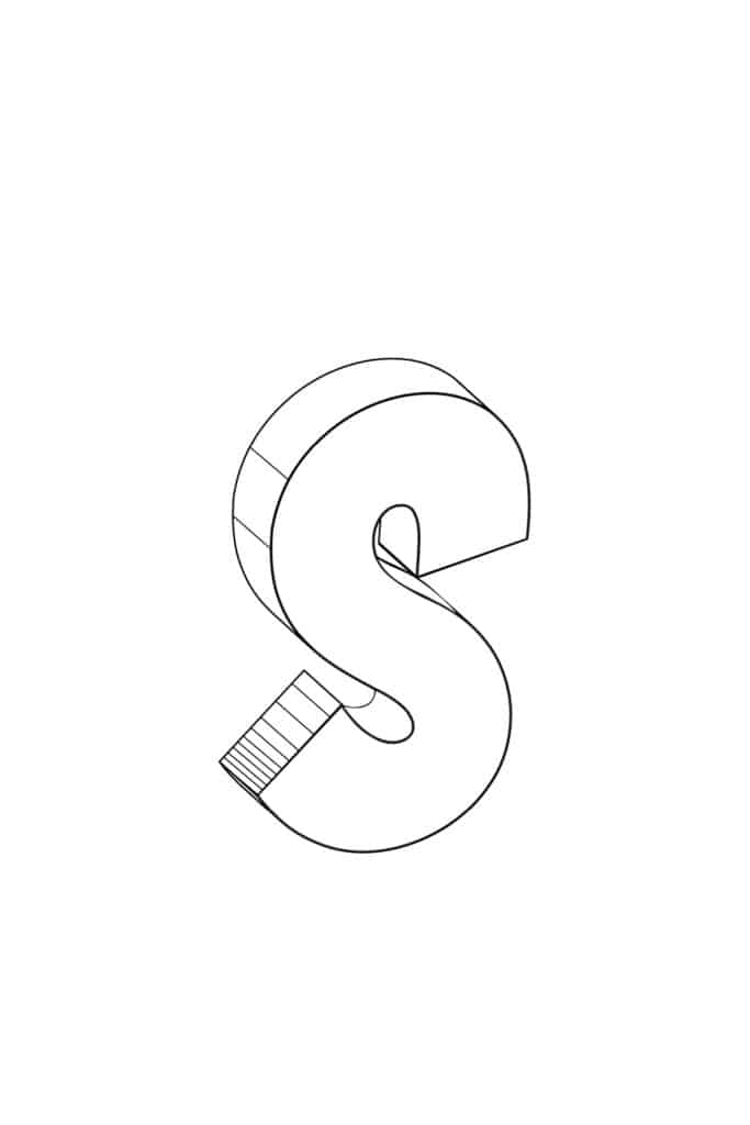 Free Printable Cool Bubble Letters: Bubble Letter S