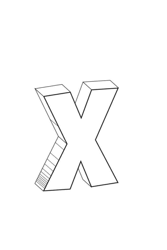 Free Printable Cool Bubble Letters Bubble Letter X