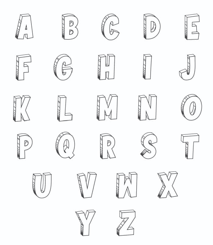 Free Printable Cool Bubble Letters: Bubble Letters Set