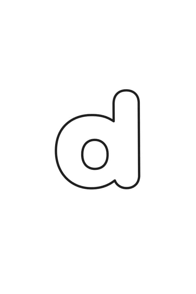 Free Printable Lowercase Bubble Letters Lowercase D Bubble Letter