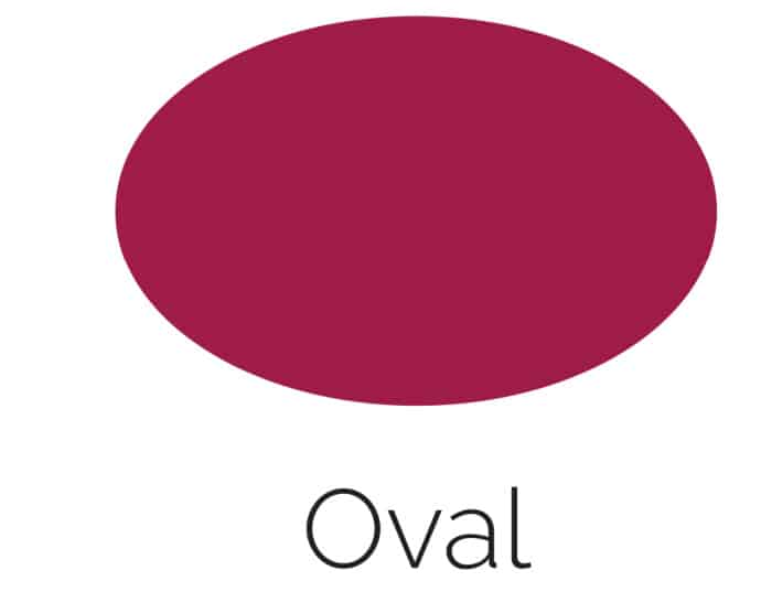 Free Printable Oval Shape with Color