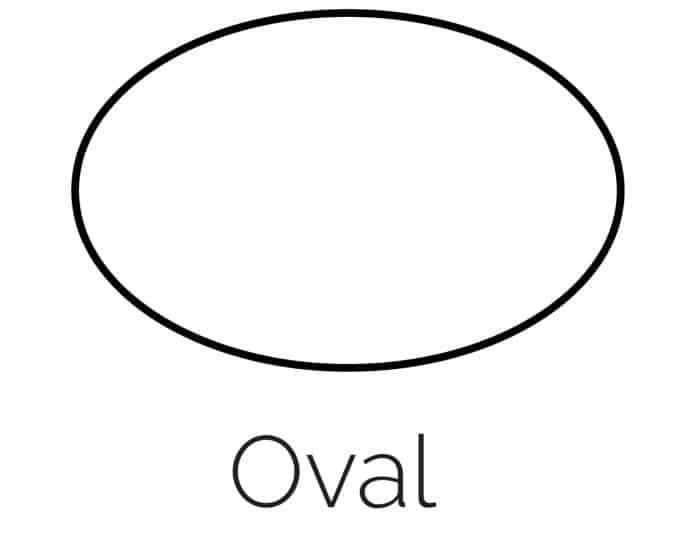 Free Printable Oval Shape