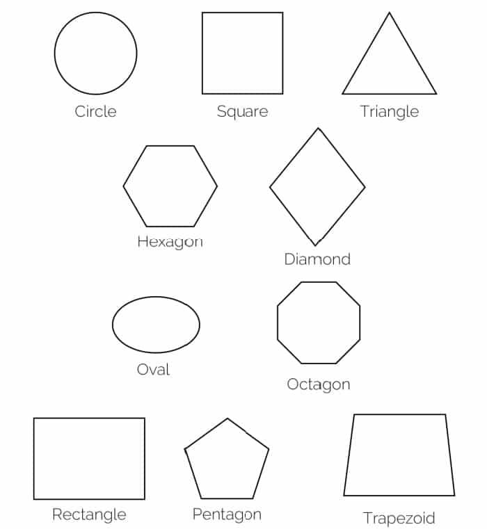 Free Printable Shapes: 2D Shapes