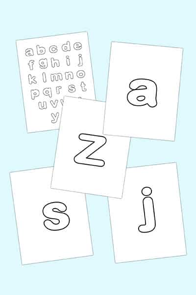free lowercase bubble letters to print