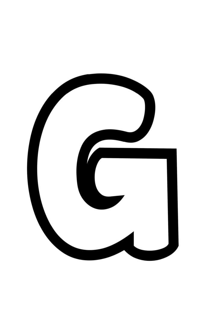 Free Printable Bubble Letter Stencils Bubble Letter G