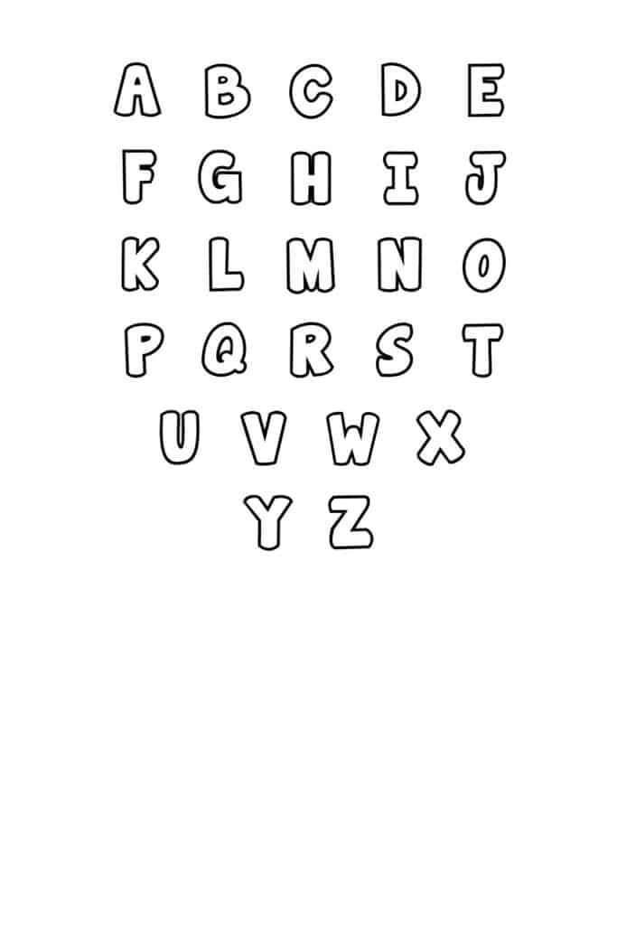 free printable bubble letter stencils bubble letters set