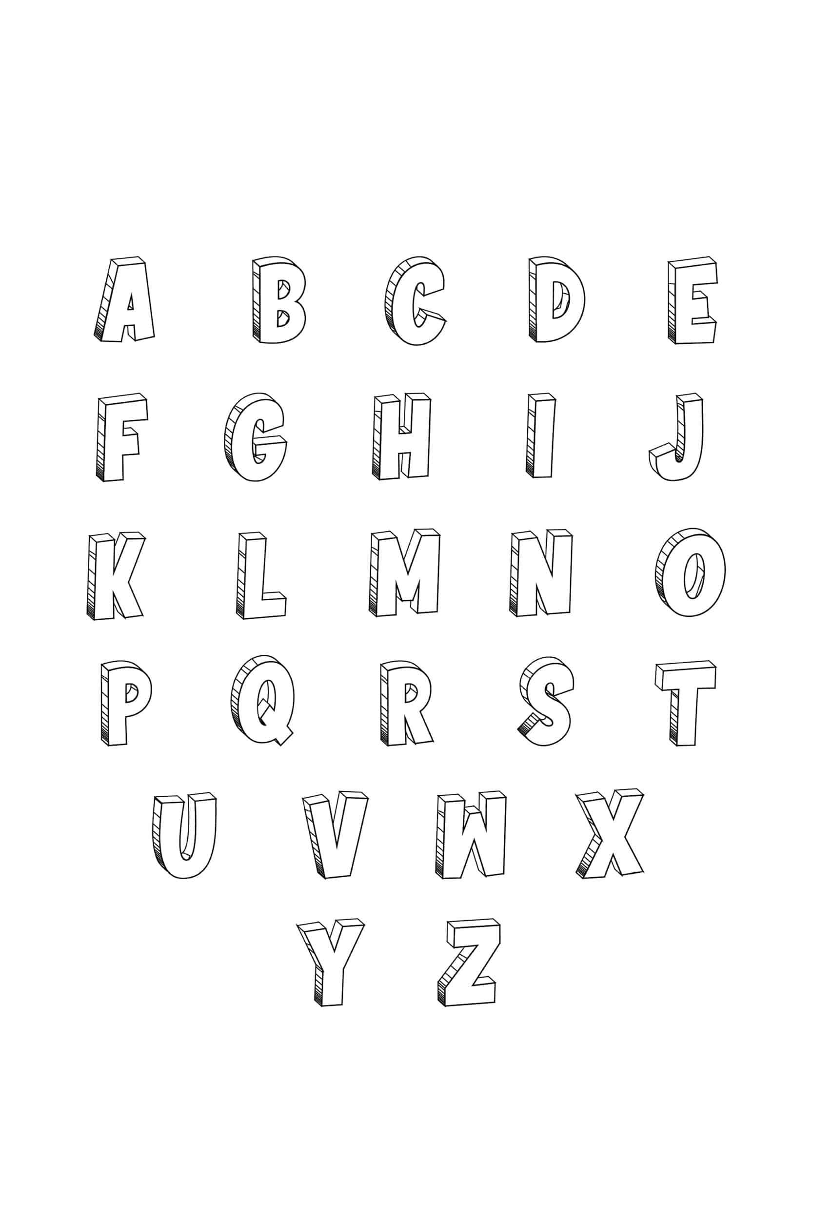 Free Printable Cool Bubble Letters Alphabet Freebie Finding Mom