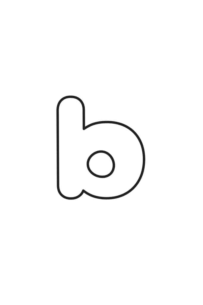 free printable lowercase bubble letter B